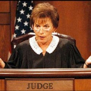 It could always have gone worse for them! Image from http://www.thirdage.com/image/judge-judy-angry